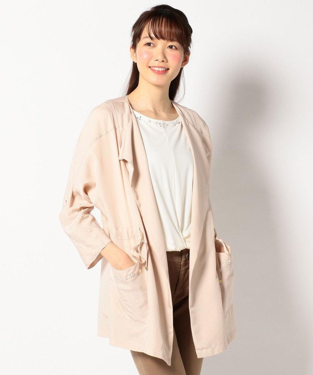 Feroux 【洗える】ドルマン ライトアウター ピンク系