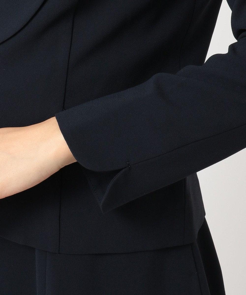 Feroux 【セットアップ対応】フェミニンレディジョーゼット ジャケット ネイビー系