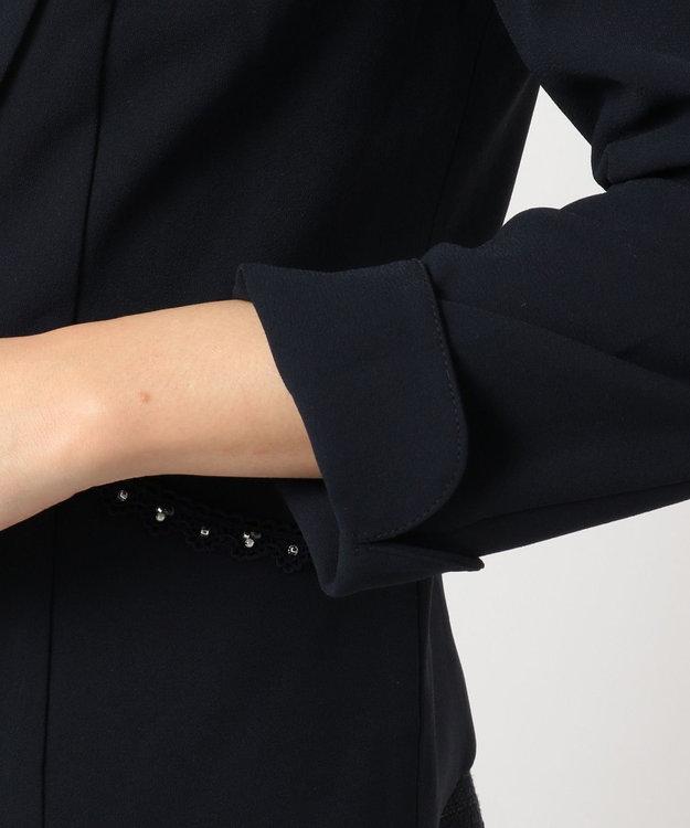 Feroux 【セットアップ対応】フェミニンレディジョーゼット ジャケット