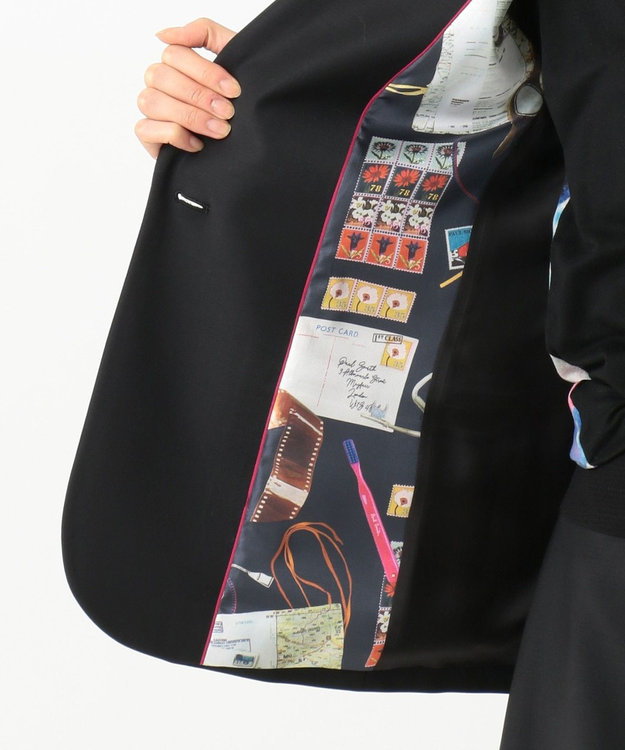 Paul Smith ソリッドブラックテーラリング ジャケット