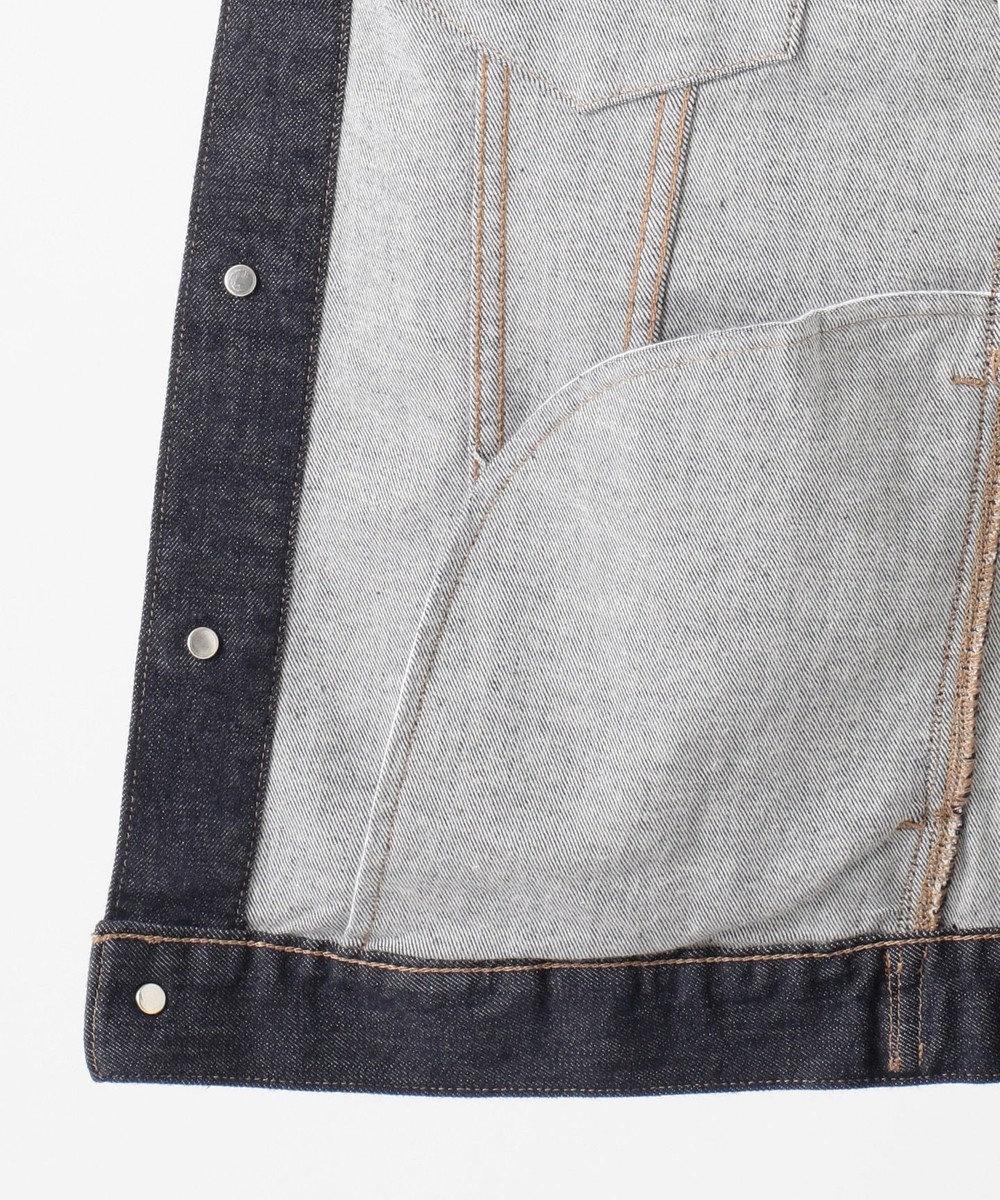 自由区 L 【マガジン掲載】BLUE デニム ジャケット(検索番号D24) ネイビー系