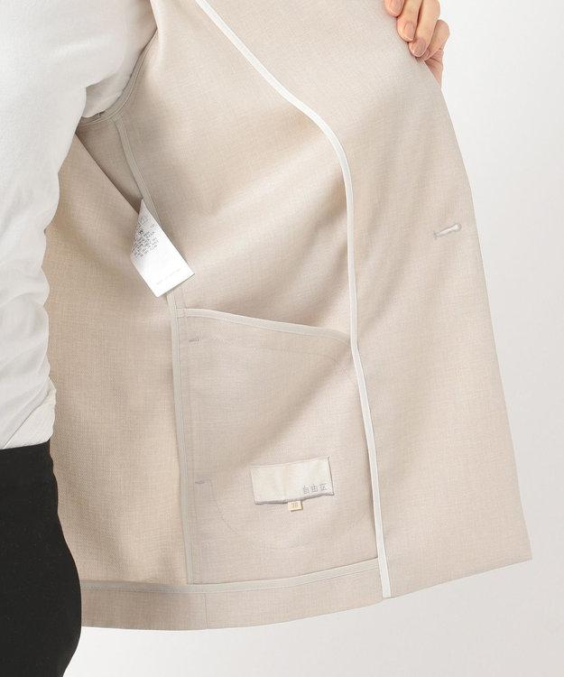 自由区 リネンライクオットマン W前テーラードジャケット(検索番号E29)