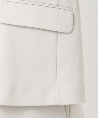 自由区 L 360°FREEリュミエール ジャージーテーラードジャケット ベージュ系