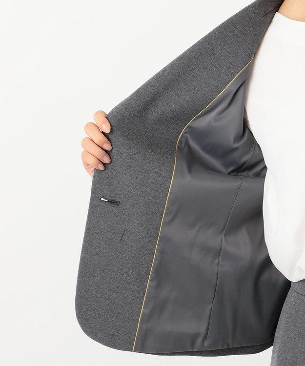 自由区 【Sサイズ有】360°FREE ウォッシャブルテーラード ジャケット グレー系