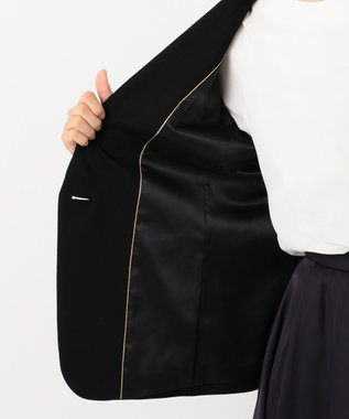 自由区 【Sサイズ有】360°FREE ウォッシャブルノーカラー ジャケット ブラック系