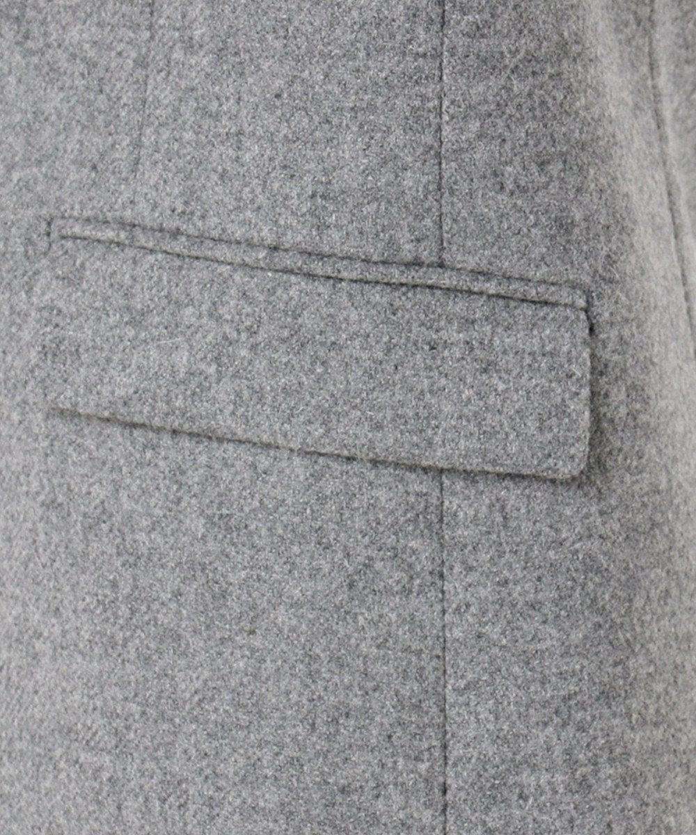 23区 L クラシカルラムウールツイル ジャケット ライトグレー系
