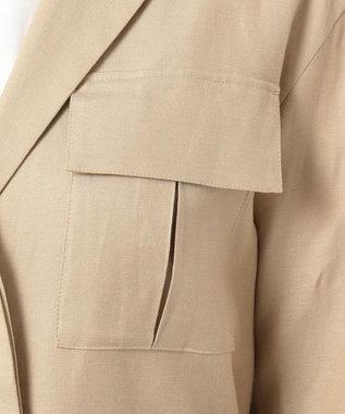 23区 ドリープリネンツイル ジャケット ベージュ系