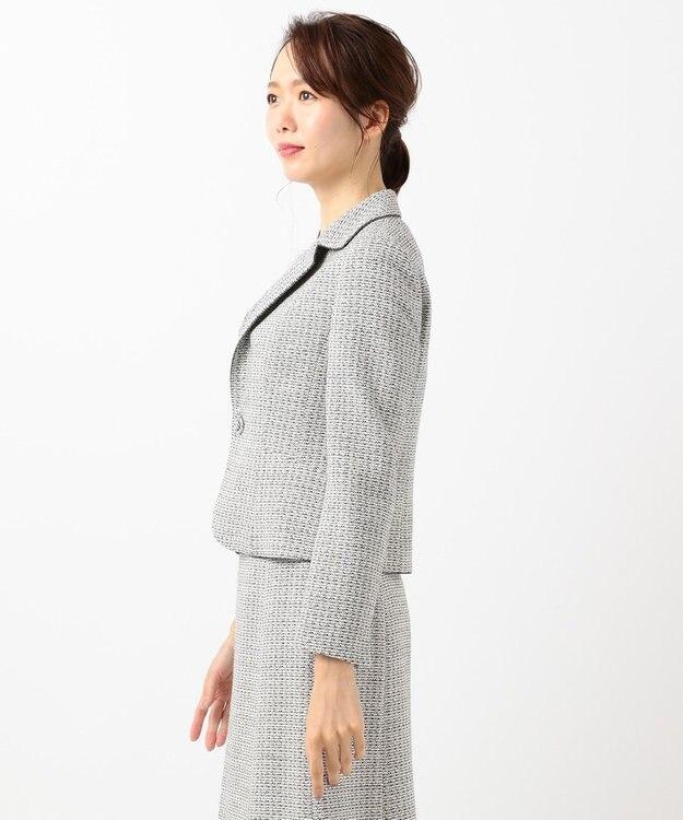 23区 S 【セットアップ対応】ライトシャインツイード テーラードジャケット