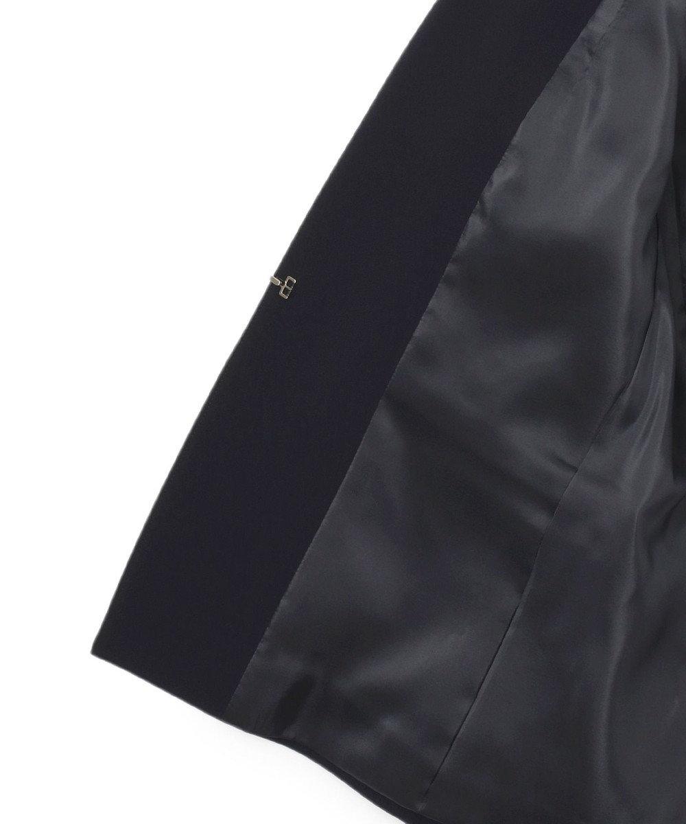 23区 S 【セットアップ対応】トリアセダブルジョーゼット Vカラージャケット ネイビー系