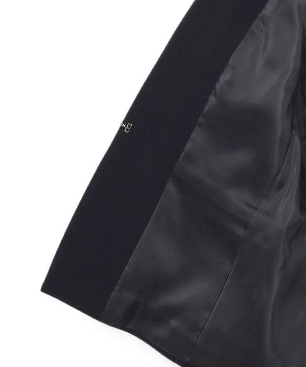 23区 S 【セットアップ対応】トリアセダブルジョーゼット Vカラージャケット