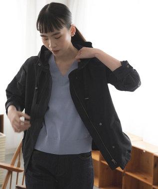 23区 S 【中村アンさん着用】ライトタッサー フーデットジャケット(番号2D34) グレー系