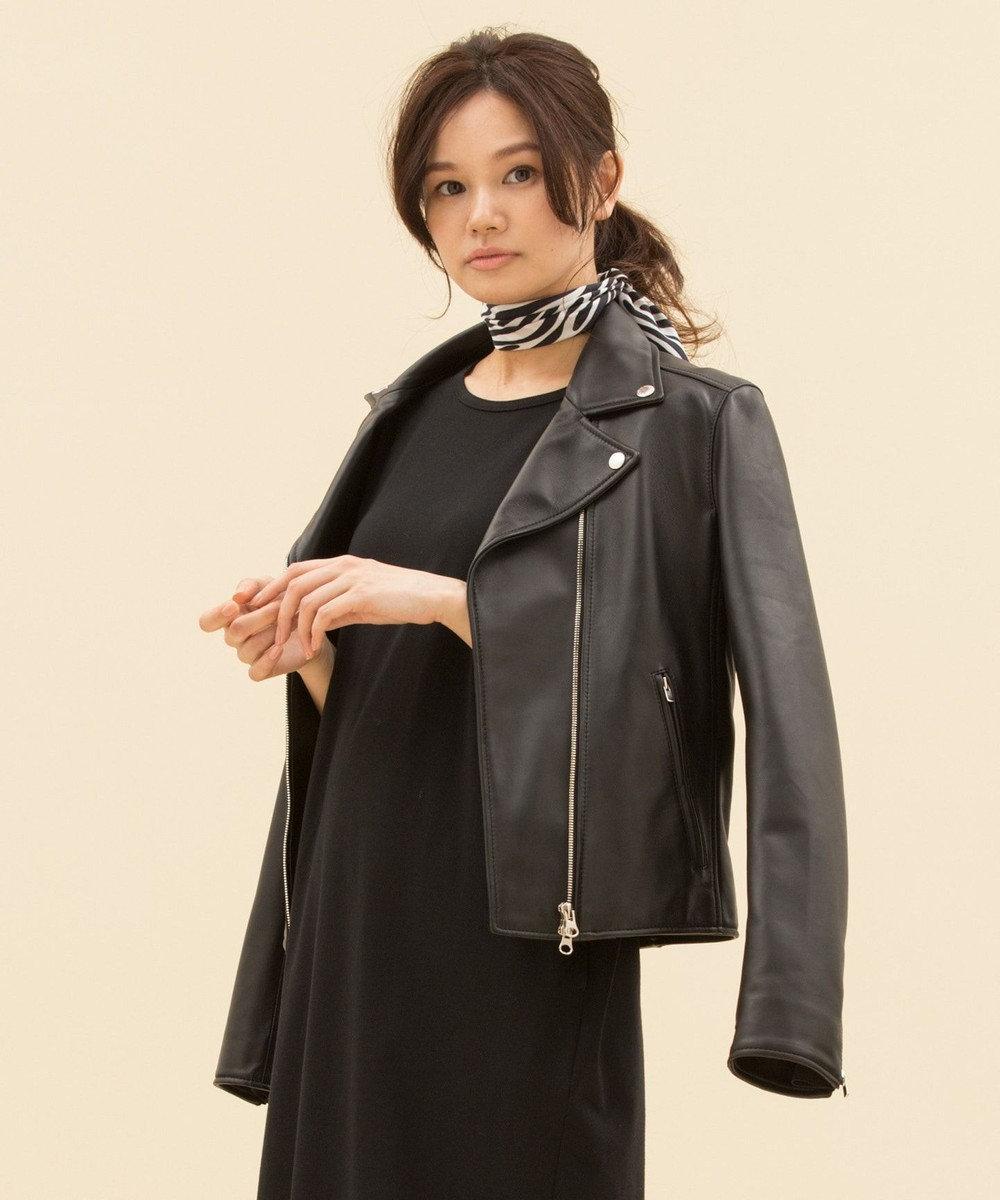 23区 【マガジン掲載】シープレザー ライダースジャケット(検索番号A23) ブラック系