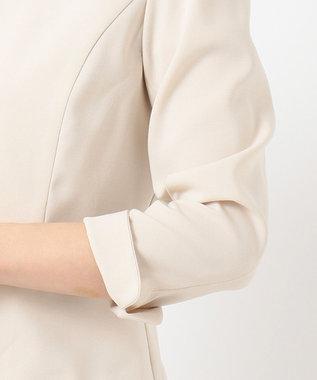 any SiS 【洗える】ノーカラーライト ジャケット ライトベージュ