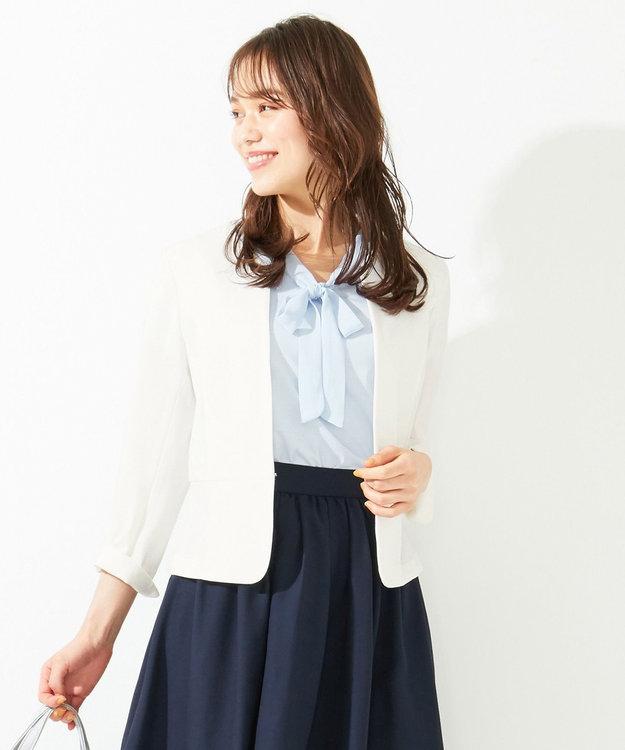 any SiS 【洗える】ノーカラーライト ジャケット
