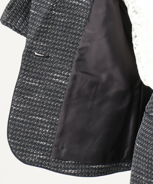 any SiS L 【セットアップ対応】リップルボーダーストレッチテーラード ジャケット シャンブレーネイビー