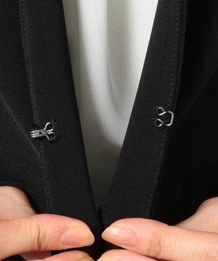 any SiS L 【セットアップ対応】セレモニーダブルクロス ノーカラー ジャケット ブラック