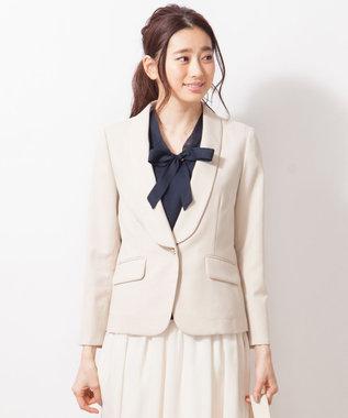 any SiS 【洗える】T/Rショールカラードビー ジャケット ベージュ系