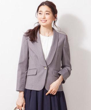 any SiS 【洗える】T/Rショールカラードビー ジャケット ライトグレー系