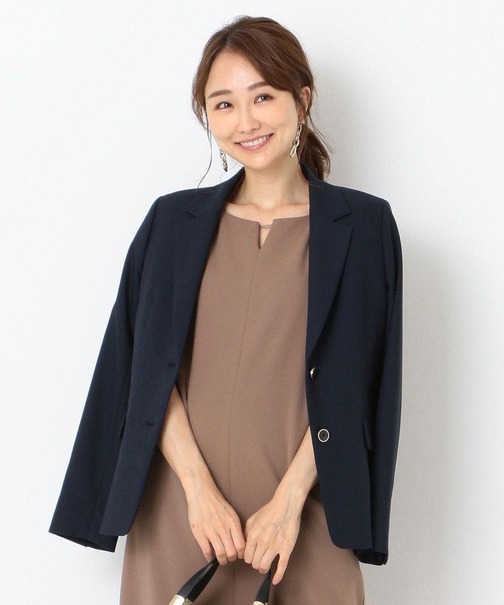 any SiS 【洗える】シングルテーラード ジャケット ネイビー系