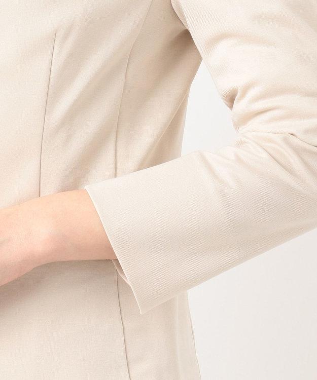 any SiS S 【洗える】ノーカラーエアリーポンチ ジャケット