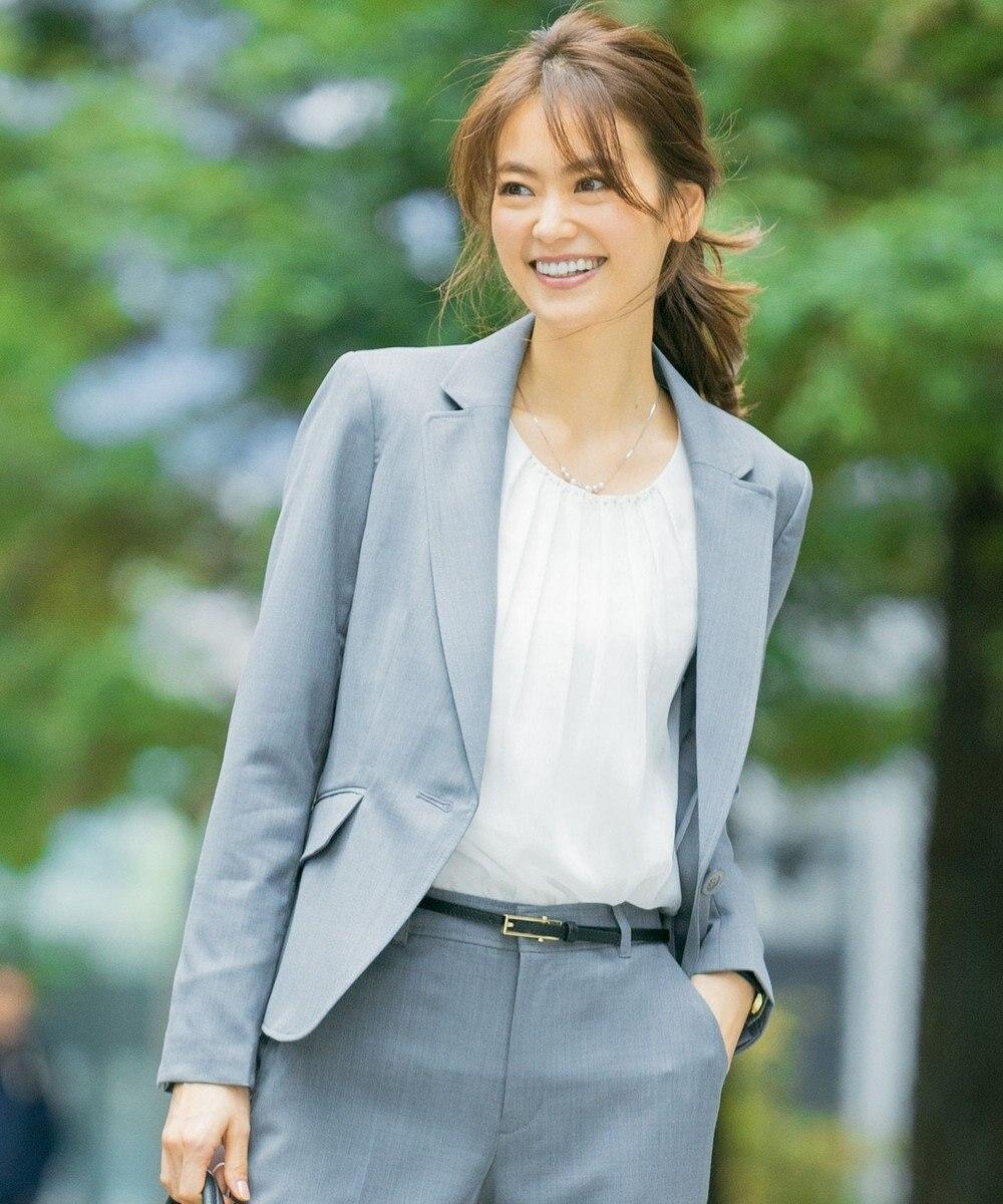 any SiS 【洗える】ウォッシャブルT/Wスーツテーラード ジャケット グレー系