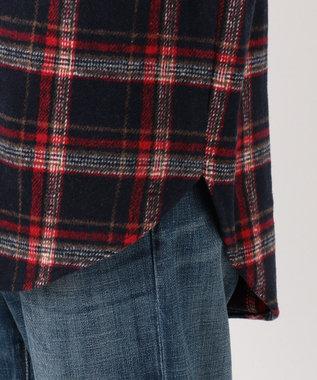 any SiS L 【L'aube】チェックシャツ ジャケット ネイビー系4