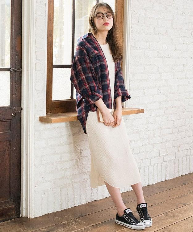 any SiS L 【L'aube】チェックシャツ ジャケット