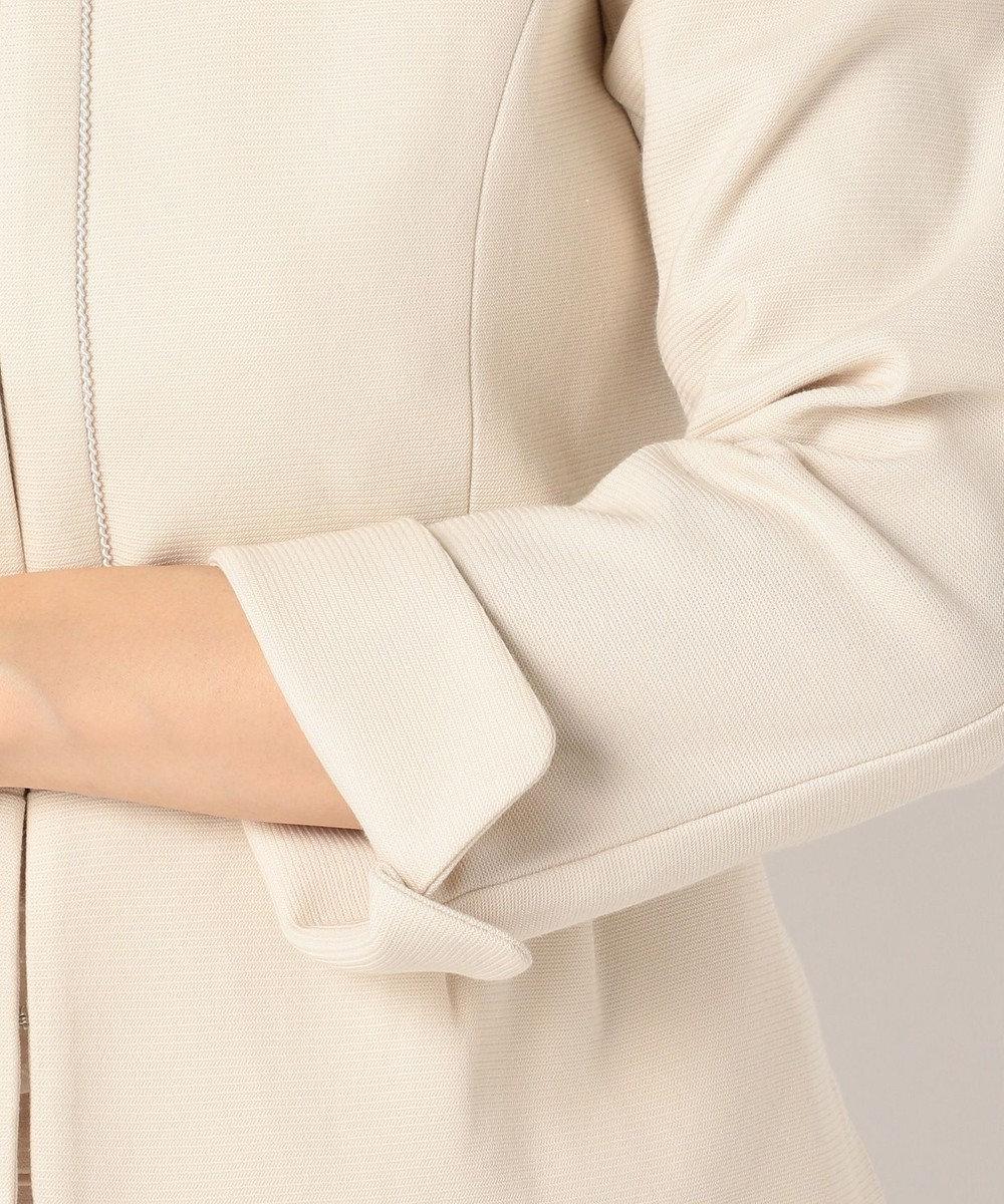 any SiS 【2点セット】フェミニン ノーカラージャケット セット ベージュ系