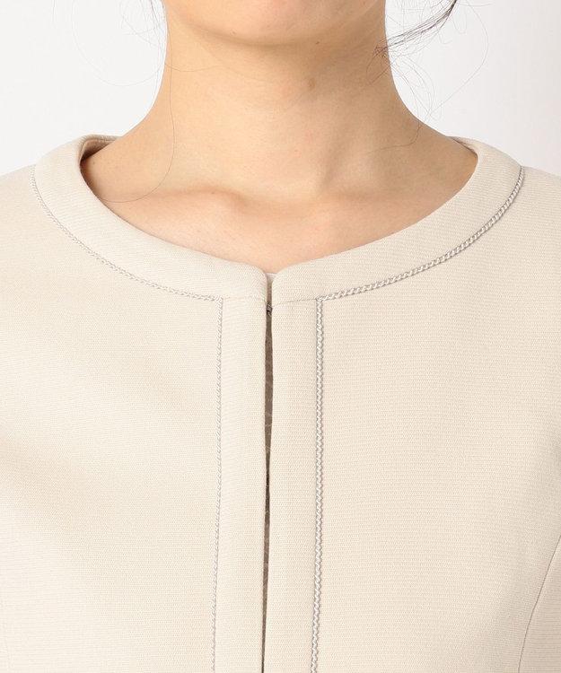 any SiS 【2点セット】フェミニン ノーカラージャケット セット
