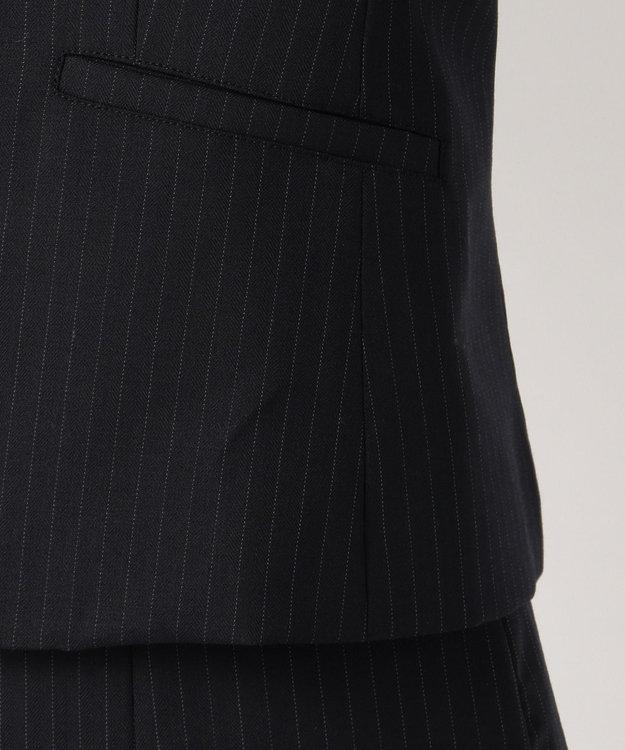 any SiS 【洗えるスーツ】ウォッシャブルT/Wスーツ ノーカラージャケット