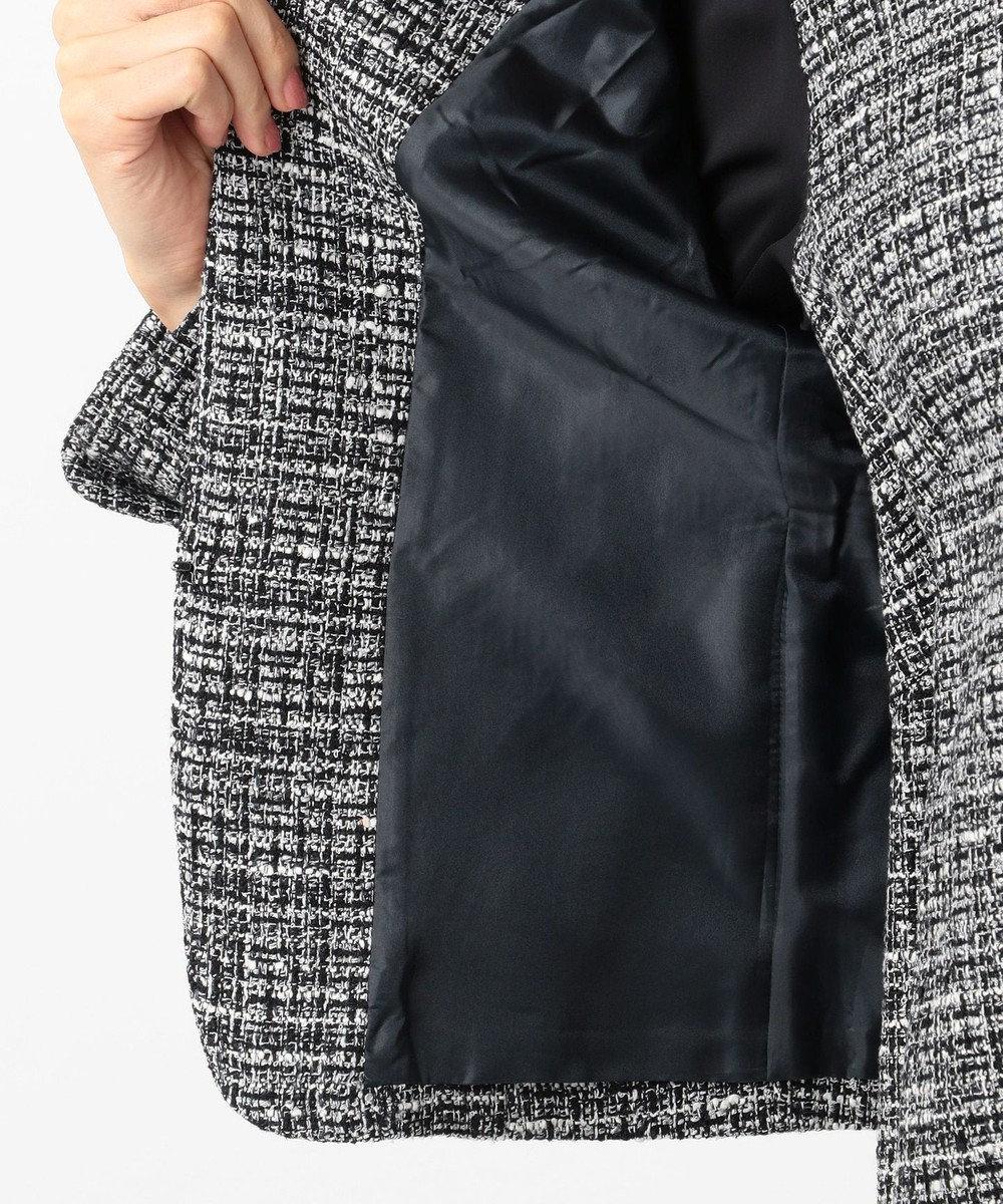 組曲 S 【セットアップ対応】ラメループモールツイード カラーレスジャケット ネイビー系1