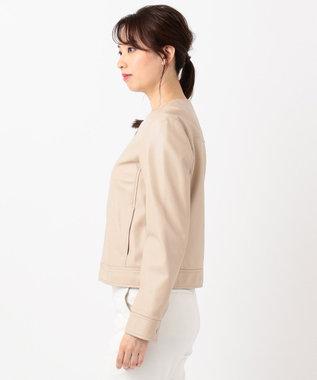 組曲 L 【mi-mollet掲載】シープレザー ジャケット ピンク系