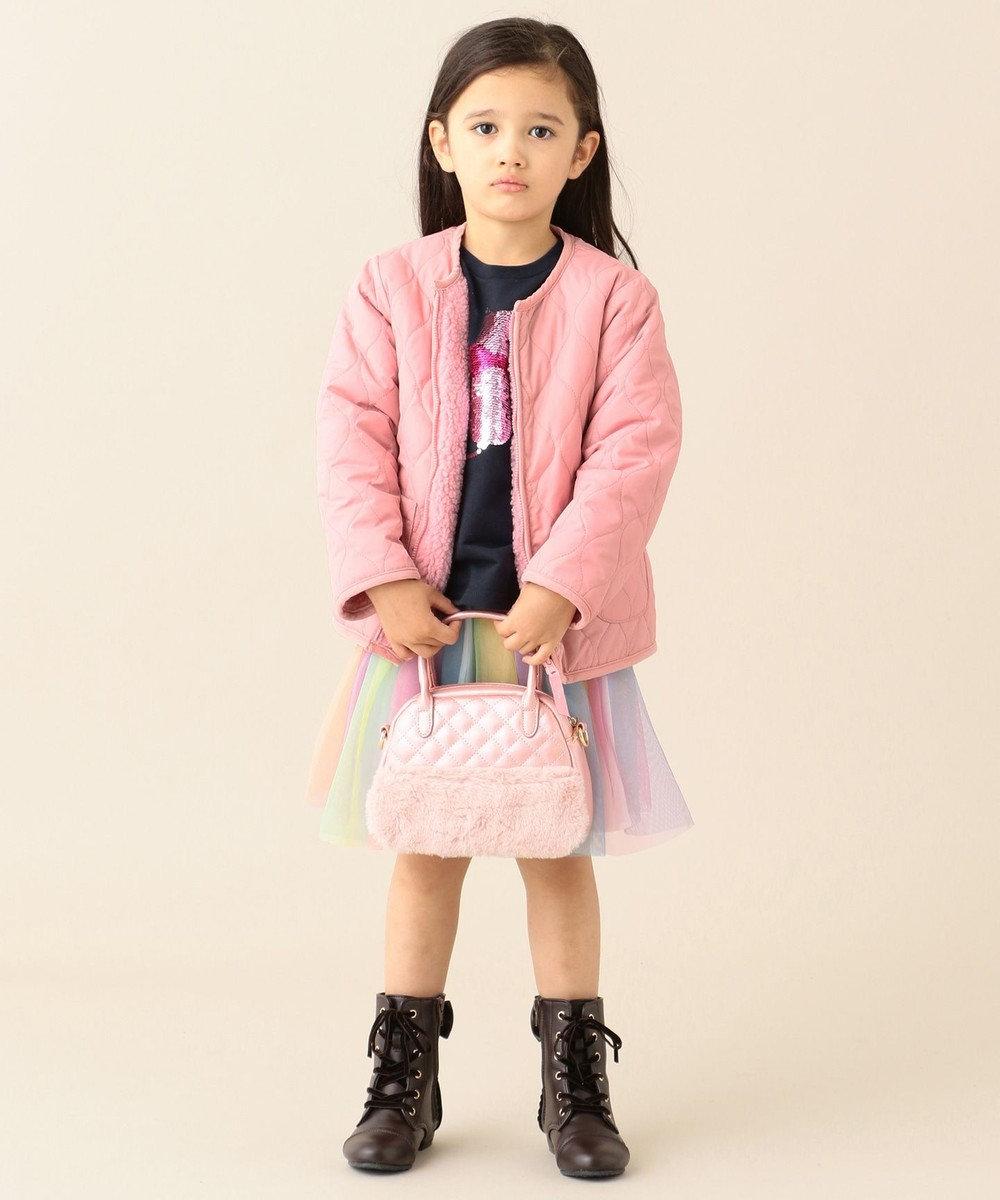 any FAM KIDS 【140-150cm】リバーシブル キルティング ブルゾン ピンク系