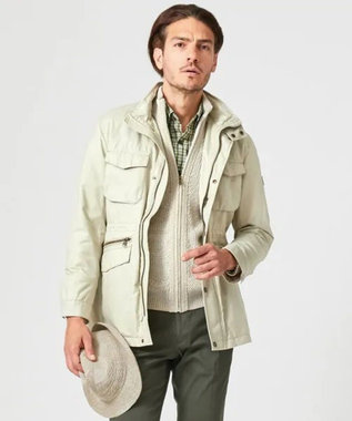 JOSEPH ABBOUD 【キングサイズ】リサイクルオーガニックWAX ブルゾン アイボリー系