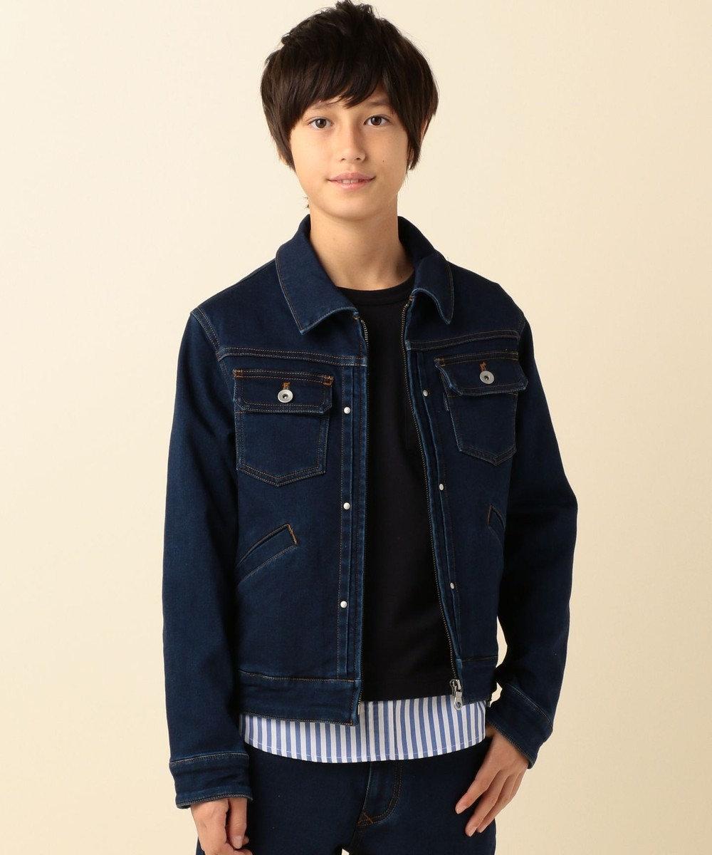 J.PRESS KIDS 【SCHOOL】JOGデニム ジャケット ネイビー系