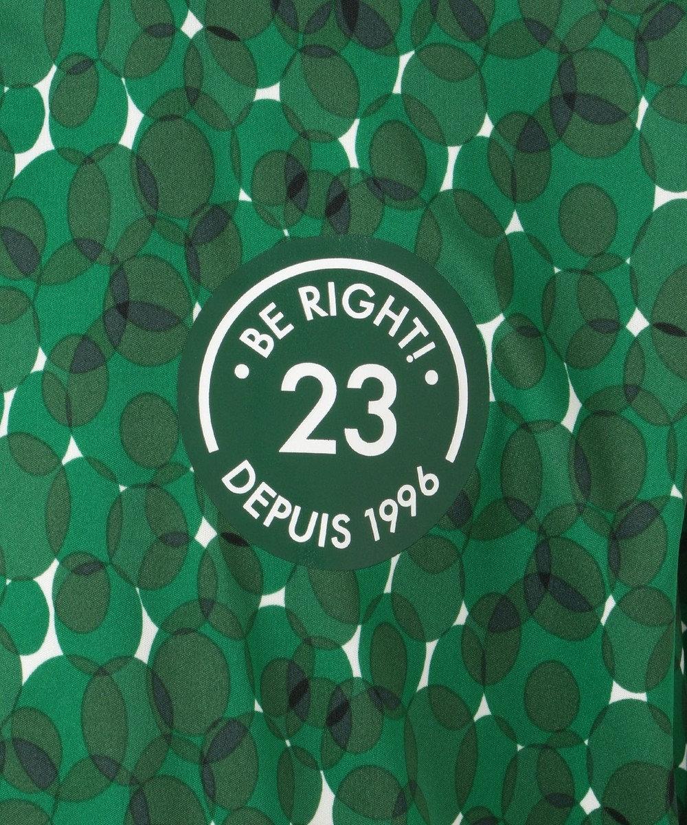 23区GOLF 【MEN】【撥水 / ストレッチ】エアリージャージープリント ブルゾン グリーン系5