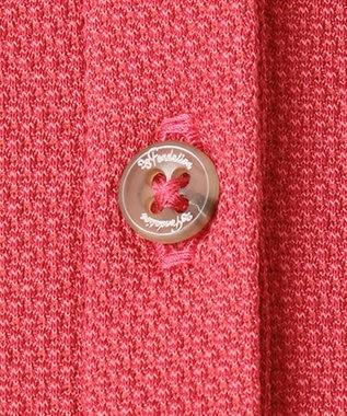 23区GOLF 【WOMEN】【Fondation/WEB限定】【吸汗速乾/ストレッチ/日本製】ハニカムライトカノコポロシャツ ローズ系