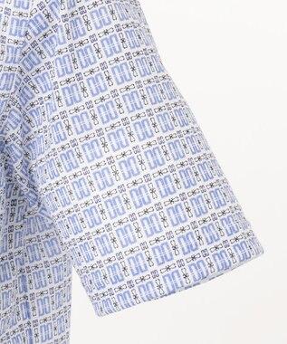 DAKS GOLF 【MEN】DDマルタ小紋 ポロシャツ サックスブルー系8