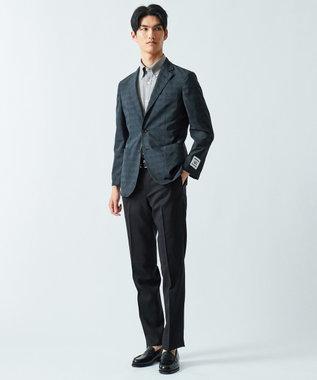GOTAIRIKU 【COOL BIZ / リモートワーク】クールマックス  へリンボン ポロシャツ ライトグレー系1