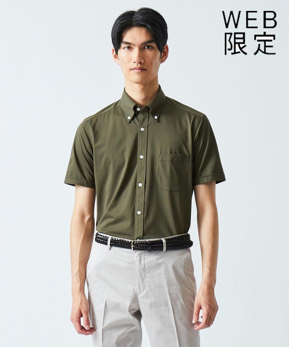 GOTAIRIKU 【WEB限定】クールマックス  カラミ ポロシャツ カーキ系