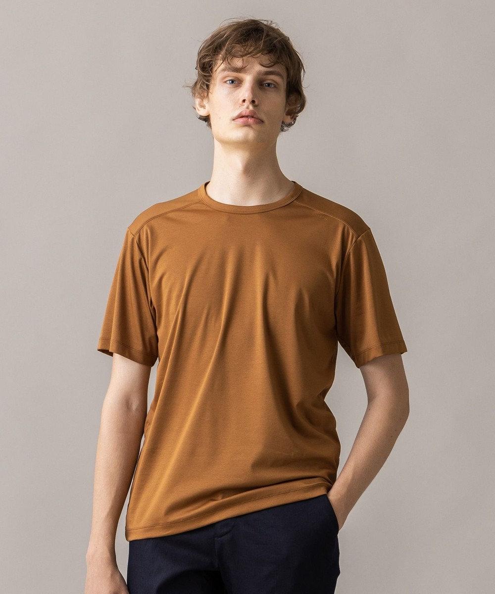 JOSEPH HOMME コットンソフィア クルーネック Tシャツ キャメル系