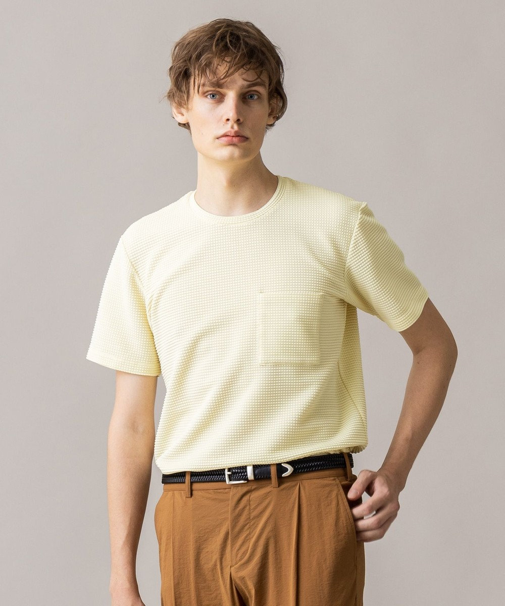 JOSEPH HOMME ライトタックジャージー クルーネックTシャツ イエロー系