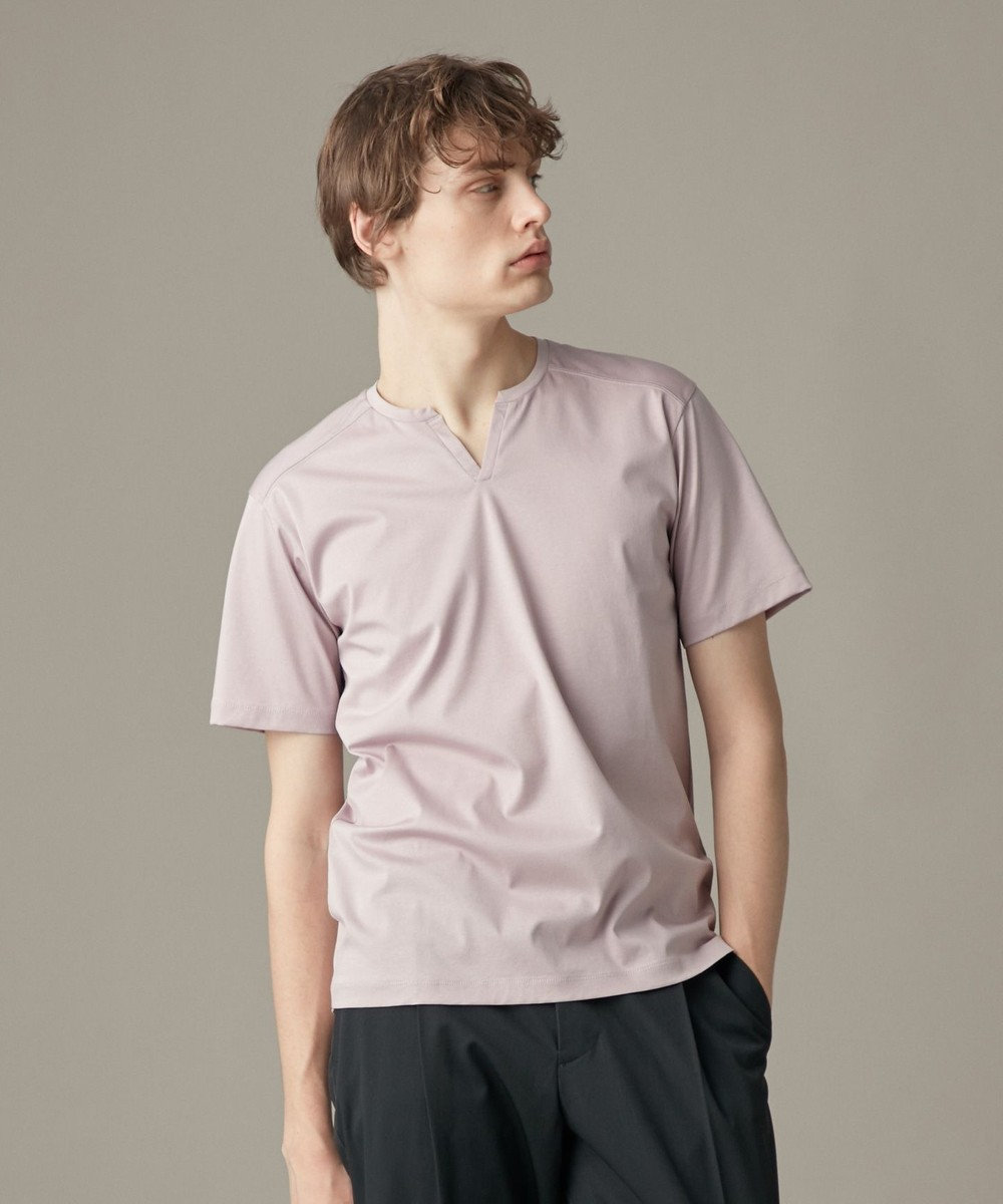 JOSEPH HOMME 【WEB限定色あり】コットンソフィア キーネック Tシャツ ピンク系