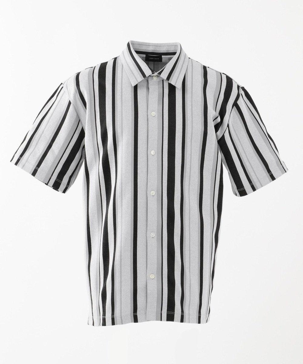 JOSEPH HOMME ストライプジャガード 半袖シャツ ホワイト系1