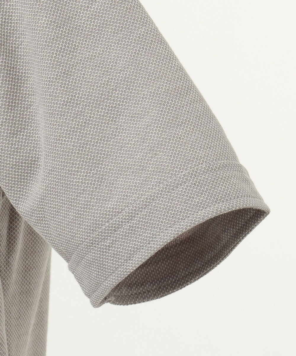JOSEPH ABBOUD 【キングサイズ・JOE COTTPN】強撚ハニカム ポロシャツ ライトグレー系