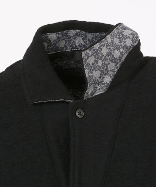 23区HOMME ランダムパイルポロシャツ ブラック系