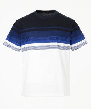 【Japan made fabric】パネルボーダーTシャツ