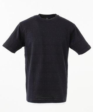 23区HOMME リンクスJQTシャツ ネイビー系