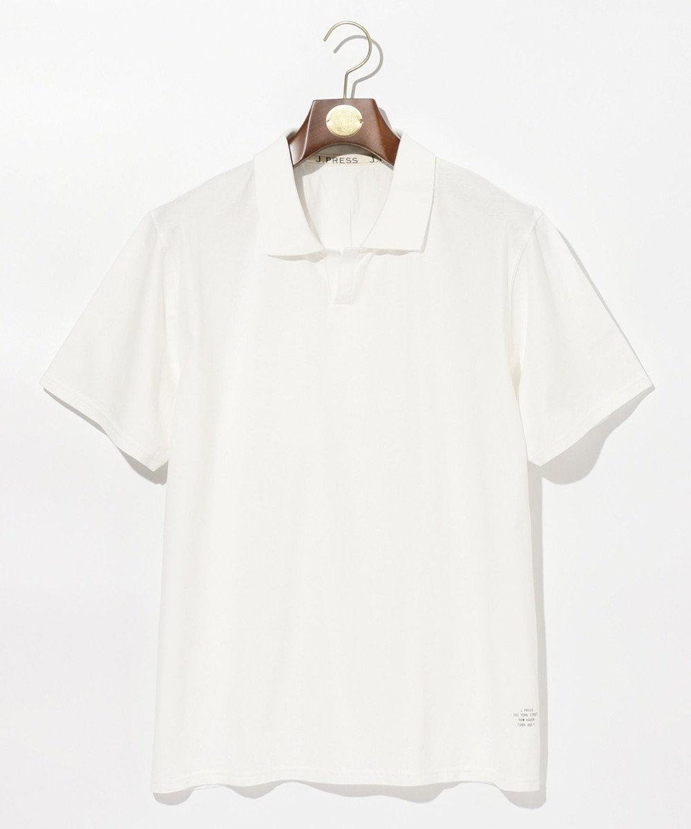 J.PRESS MEN 【大人気】ハイツイストジャージ スキッパーポロシャツ ホワイト系