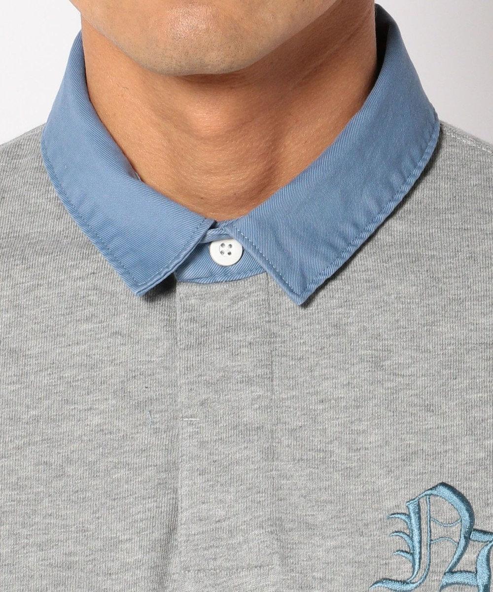 J.PRESS MEN スタンドラガー ポロシャツ ライトグレー系